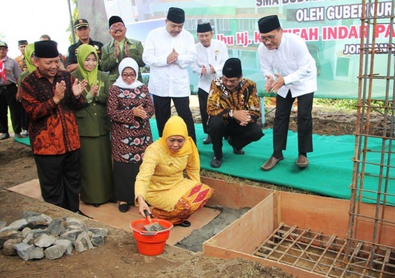 Gubernur Jatim Letakkan Batu Pertama di SMA Budi Luhur LDII Jombang