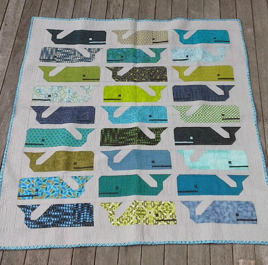 Baby Louie's Whale Quilt