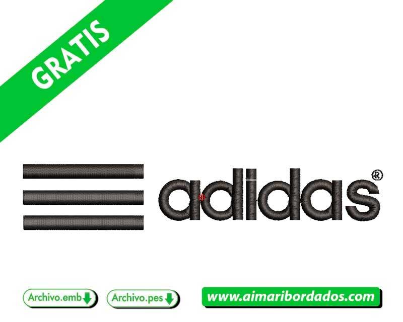 Logo ADIDAS  con lineas para bordar Descargar Gratis