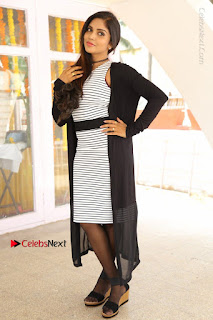 Telugu Actress Karunya Chowdary Stills in Black Dress at Soda Goli Soda Movie Opening  0251.JPG