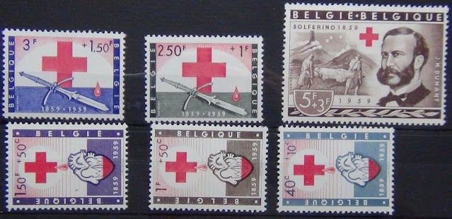 Belgium 1959 Red Cross set