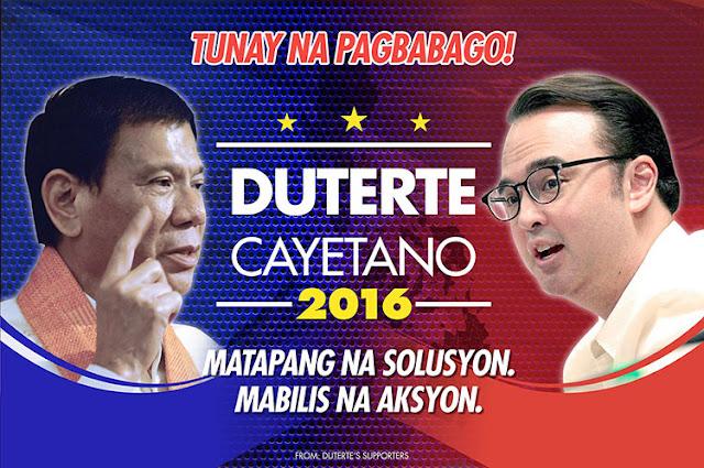 Duterte Cayetano 2016