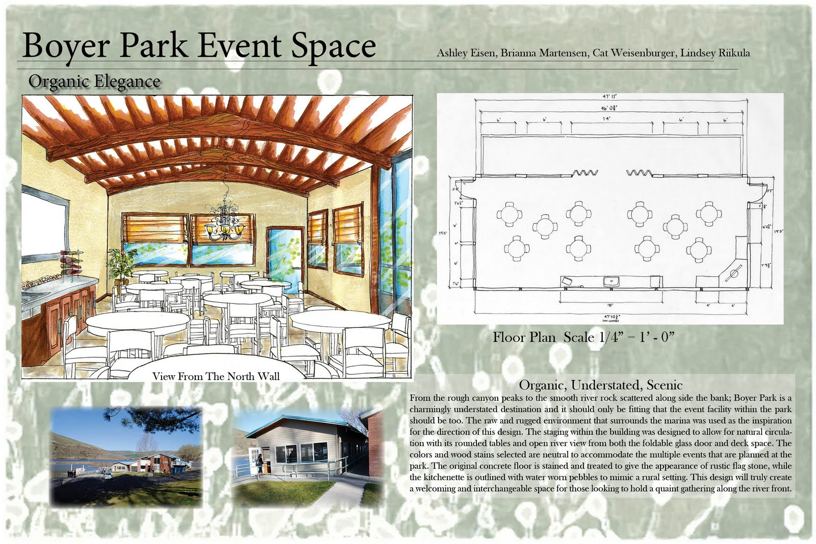 Student interior design portfolio boyer park event space - Graduation gift for interior design student ...
