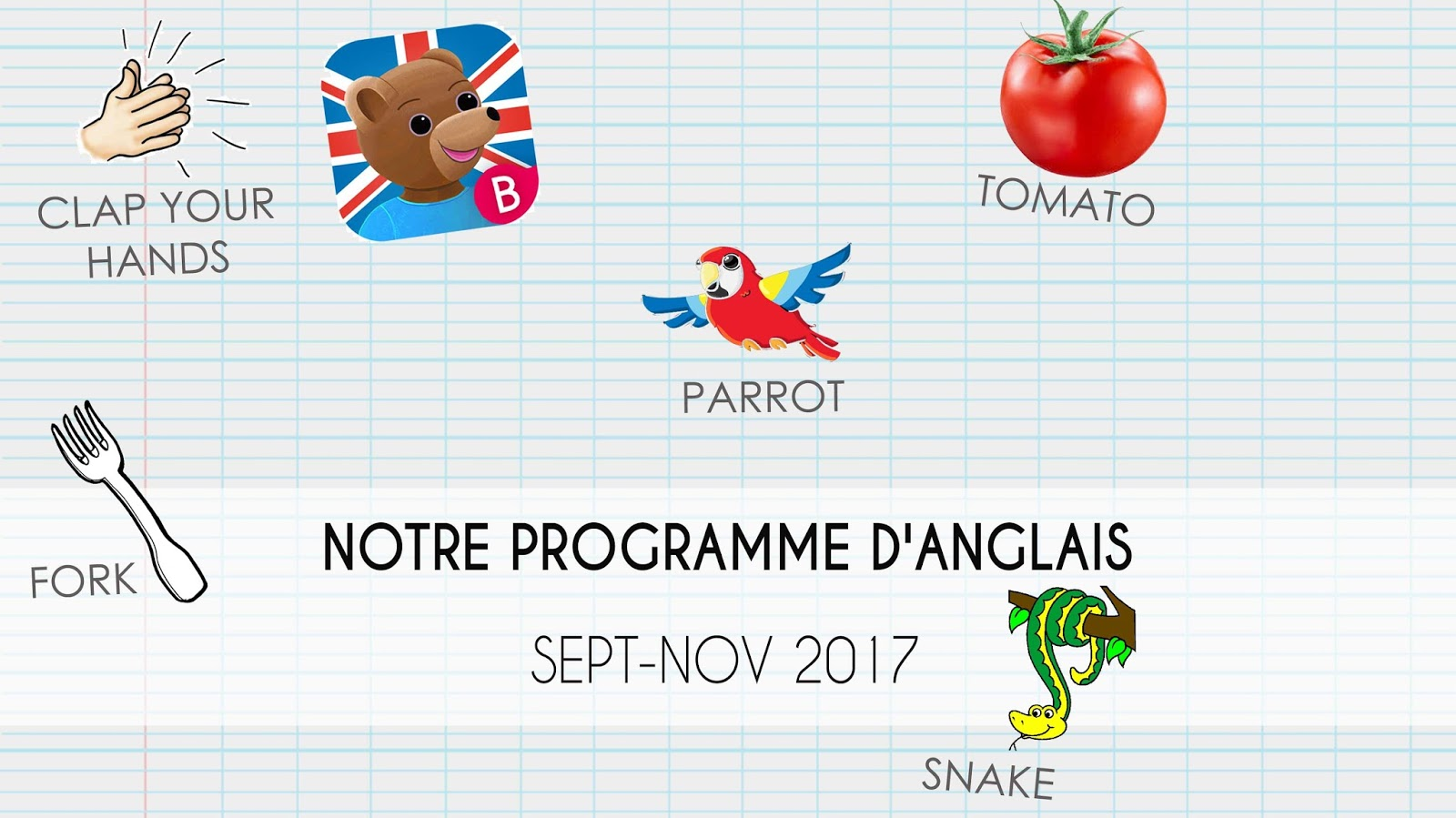 High Five Family programme apprendre anglais enfants septembre novembre 2017