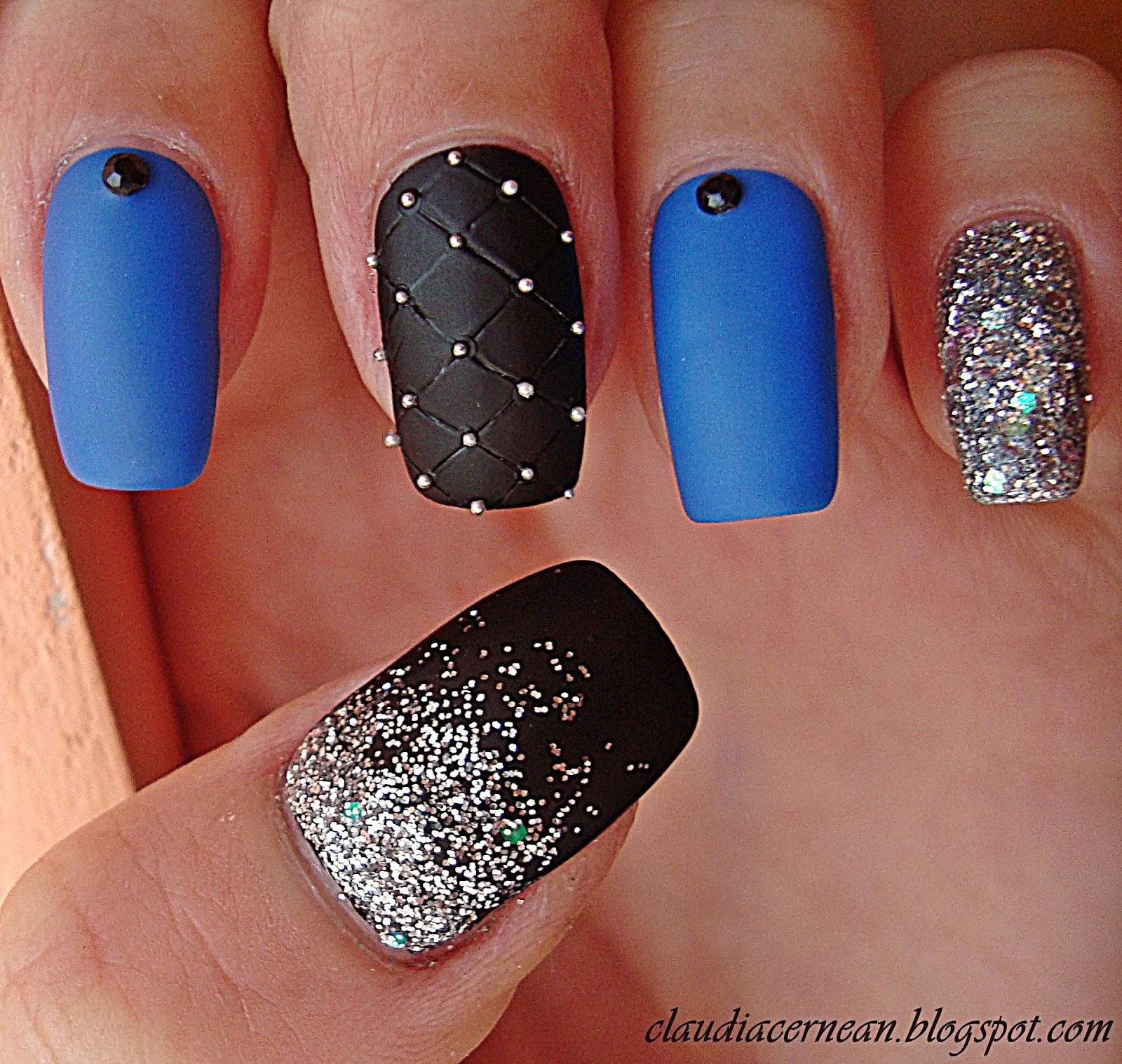 Nails Art Tutorials Unghii Mate Cu Sclipici Matte Nails With Glitter