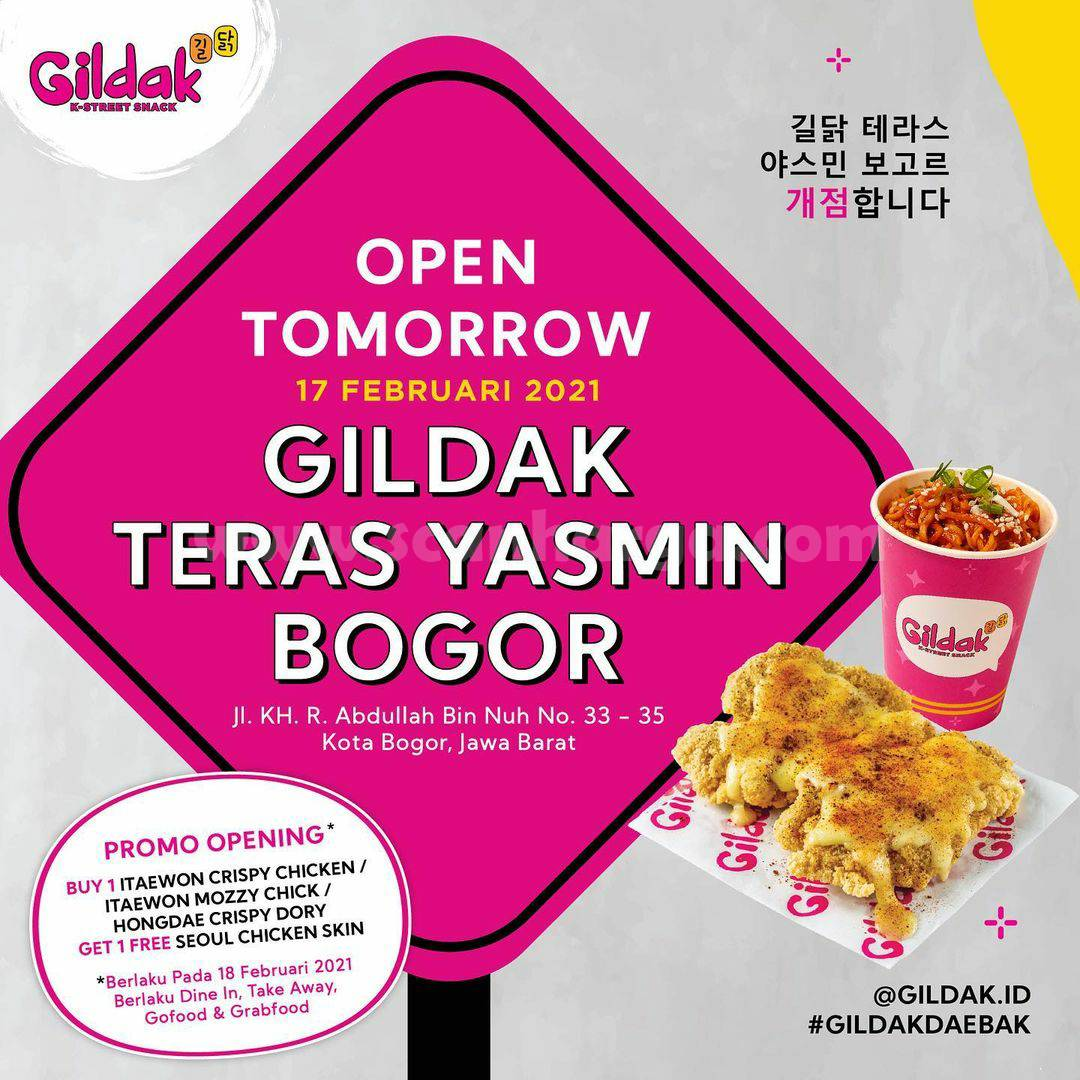 GILDAK Teras Yasmin Bogor Grand Opening Promo – BELI 1 GRATIS 1