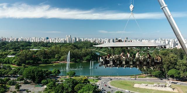 Dinner in the Sky 2020 terá vista para o Parque do Ibirapuera