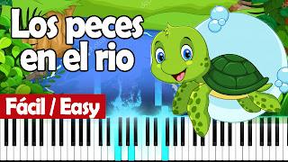 los peces en el rio piano easy