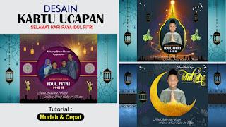 Template Kartu Ucapan Hari Raya Idul Fitri 1441 H Free CDR