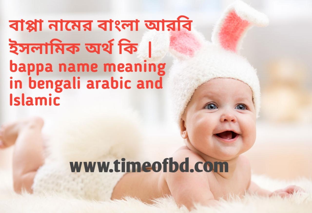 বাপ্পা নামের অর্থ কী, বাপ্পা নামের বাংলা অর্থ কি, বাপ্পা নামের ইসলামিক অর্থ কি,bappa name meaning in bengali