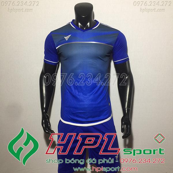 Áo bóng đá không logo TA Eco màu xanh đậm
