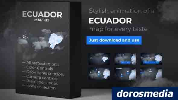 Ecuador Map - Republic of Ecuador Map Kit 24758349 Videohive - Free Download After Effects Templates