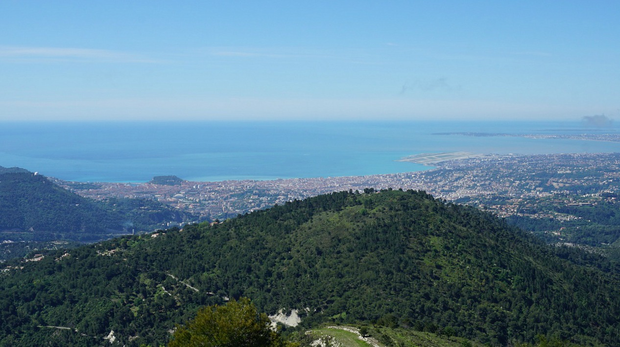 View to Nice from Mont Macaron southern summit