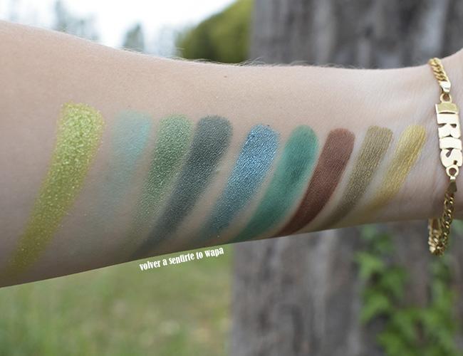 Paleta Uranus de Beauty Glazed: sombras en tonos verdes y dorados