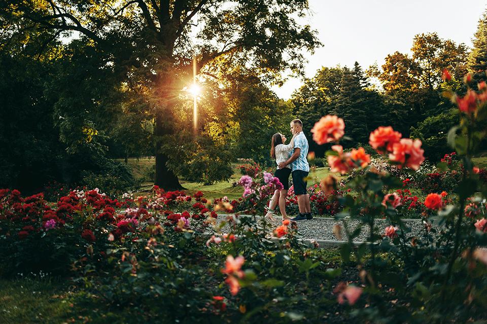 Sesja narzeczeńska, Ogród Botaniczny UMCS, Lublin, fotografia ślubna Lublin
