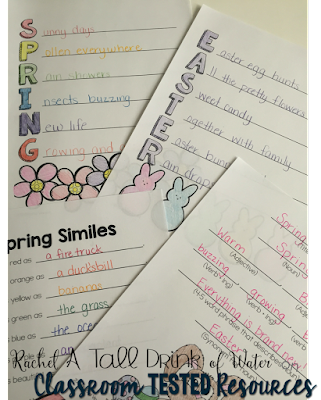 Spring Poetry Ideas with a FREEBIE on www.classroomtestedresources.com