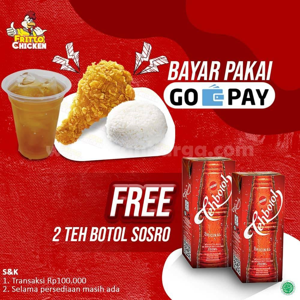 Fritto Chicken Promo GRATIS 2 Teh Botol Sosro bayar pakai GoPay