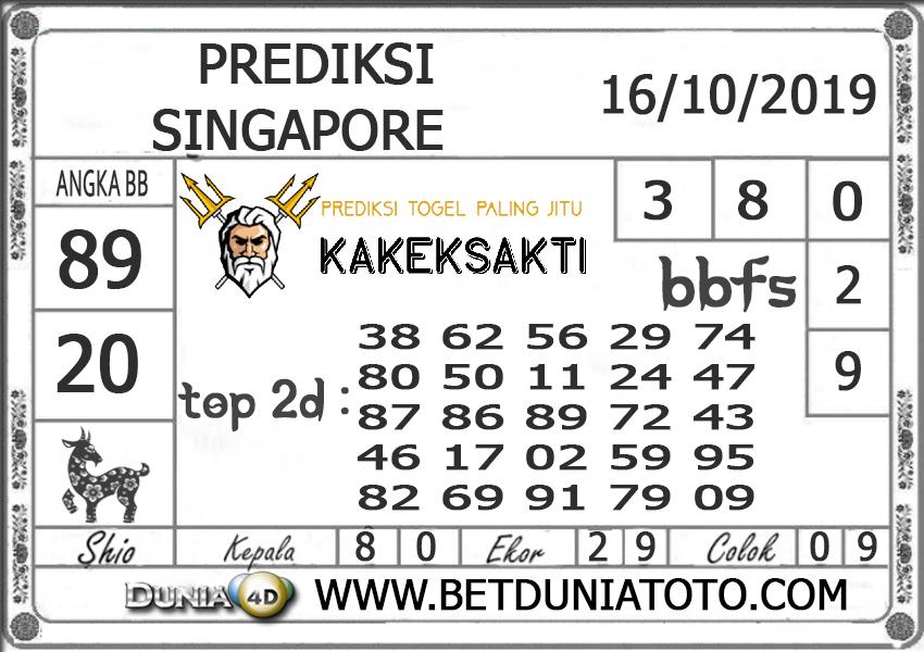 """Prediksi Togel """"SINGAPORE"""" DUNIA4D 16 OKTOBER 2019"""