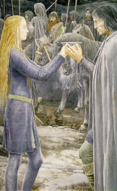 Eowyn et Aragorn par Alan Lee
