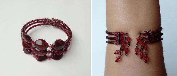 Restaurando uma Sapatilha Moleca vermelha com peças de bijuteria