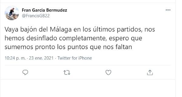 """Málaga, la afición se pronuncia: """"Vaya bajón en los últimos partidos, nos hemos desinflado"""""""