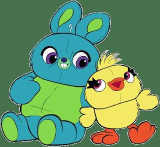 🦆 Bunny y ducky 🐰 de toy story 4 para imprimir
