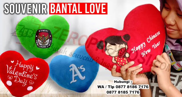 Souvenir Bantal Love Promosi Bantal Love Costum Bisa Tambah Nama & Kata Romatis Anda, Bantal Kado Love Souvenir Lucu, Bantal Hati,  bantal love souvenir dan promosi, Pabrik Bantal Love Souvenir Promosi Perusahaan Berkualitas Di Tangerang