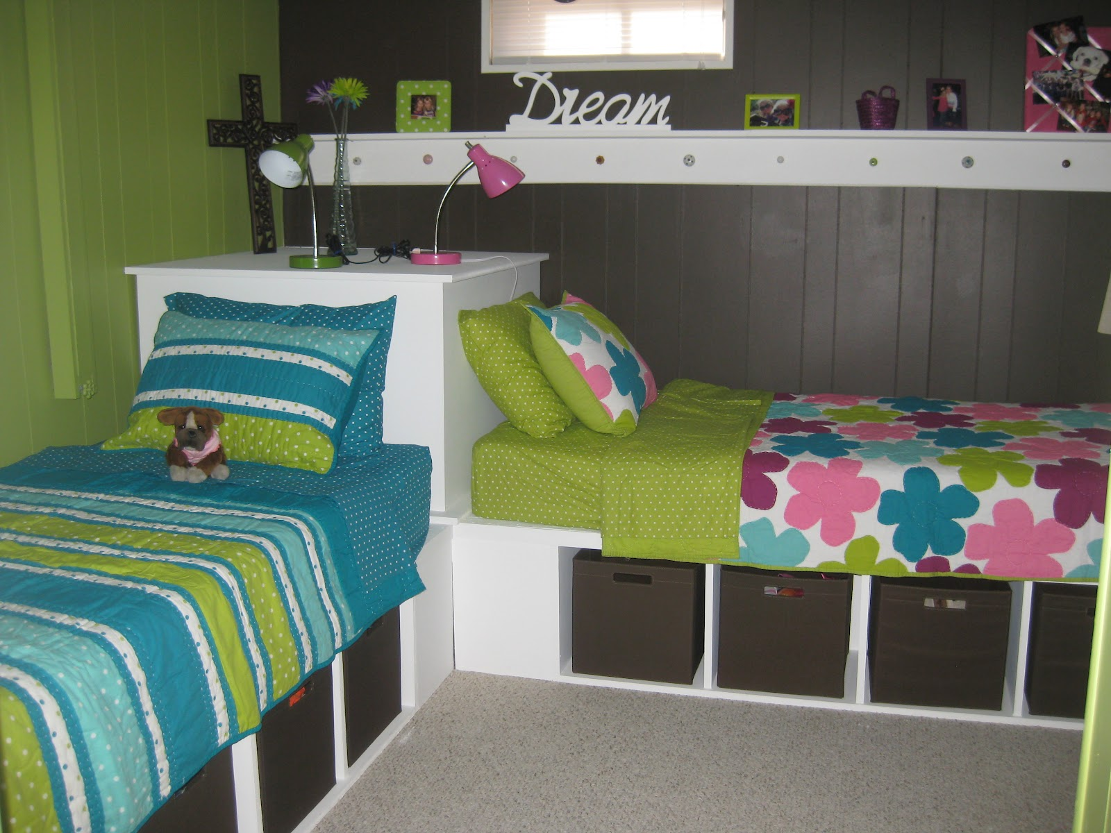 Paperchic Gal Ugly Basement Room Into A Cute Girls Room