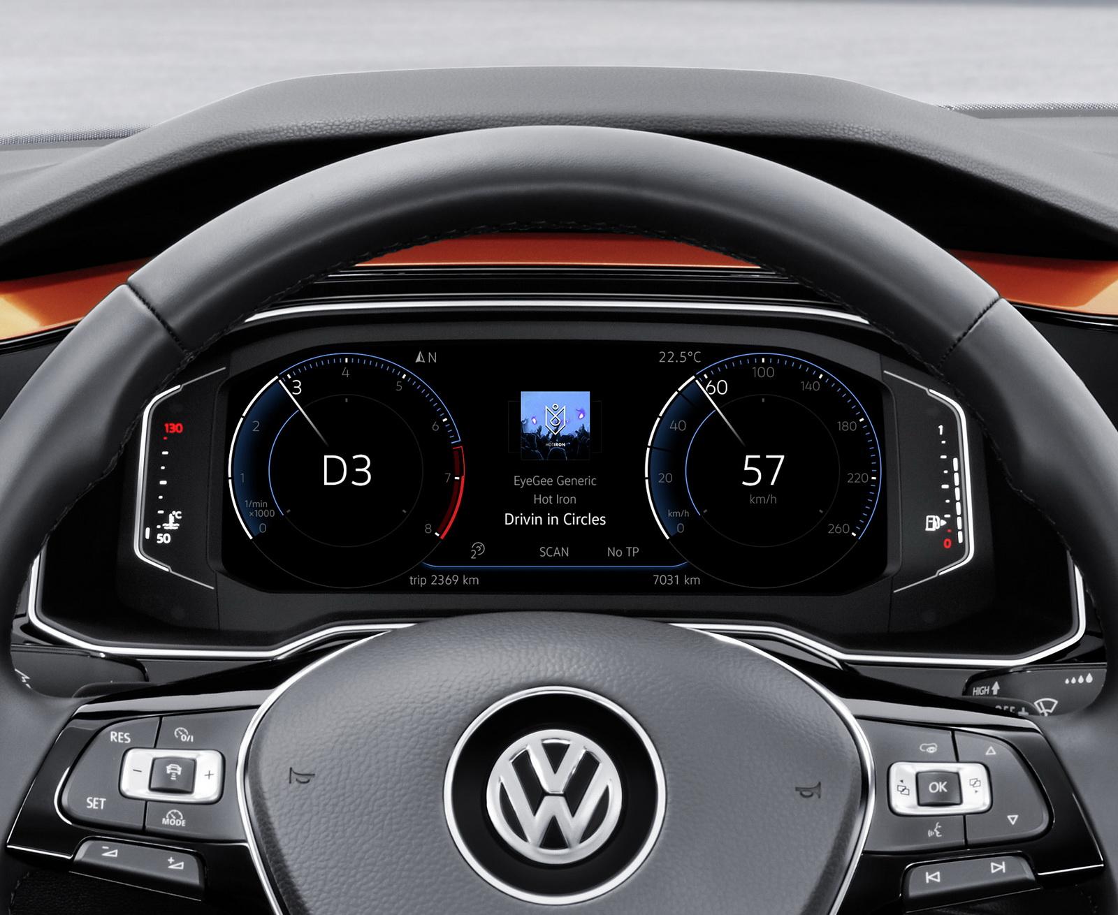 Цифровая приборная панель Volkswagen Polo 2018