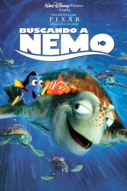 Cartel película de Pixar Animation Buscando a Nemo
