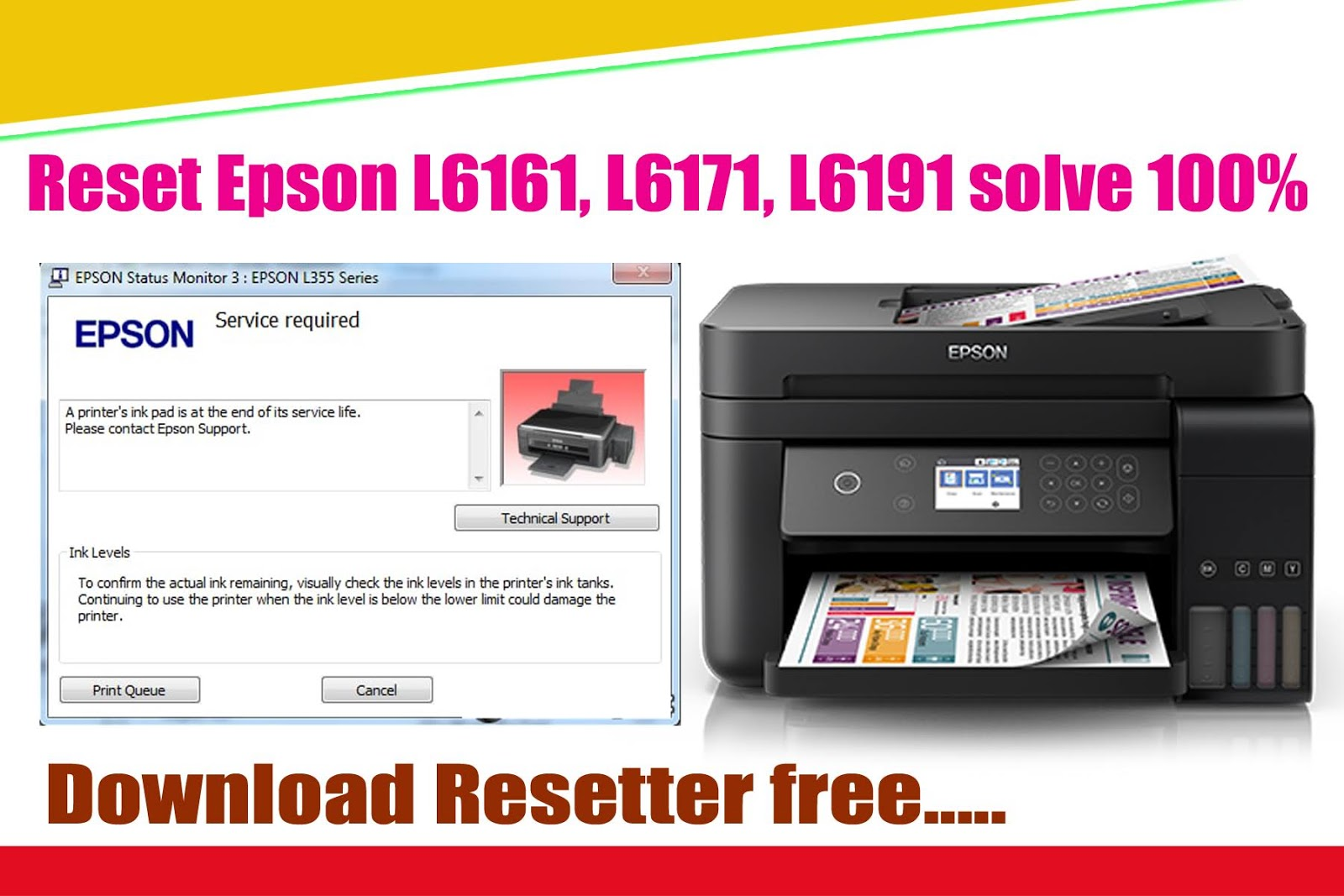How to reset Epson L10, L10 & L10with Adjustment Program