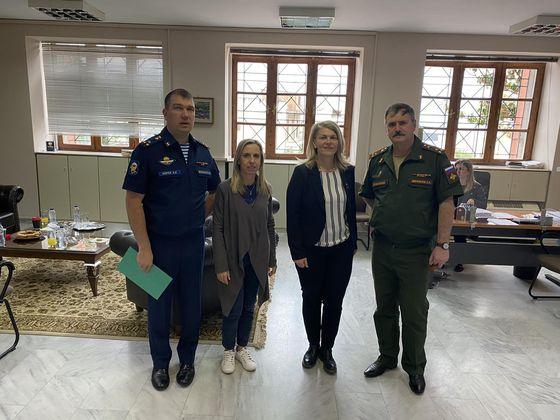Στυλίδα: Επίσκεψη του Στρατιωτικού Ακολούθου Ρωσίας Alexey Moroz και κατάθεση στεφάνου στο νεκροταφείο