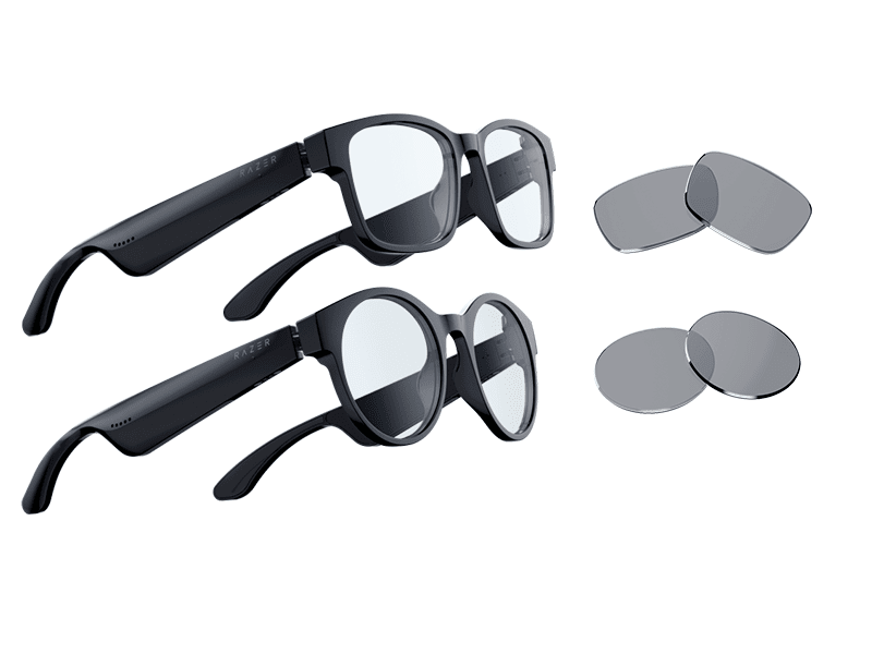 rectangle and round frames and lenses
