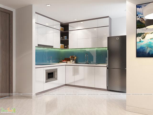 Thiết kế và thi công căn hộ chung cư Compass One - Tp. Thủ Dầu Một, Bình Dương - Khu bếp và bàn ăn