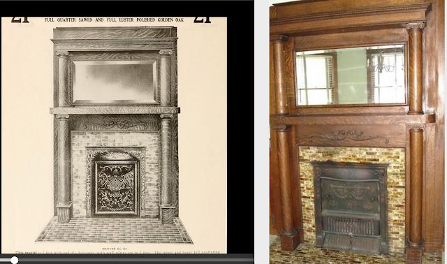 3 Elm St Newton NJ Authenticated Sears No 163 of Reuben Talmage fireplace