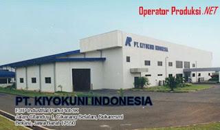 Lowongan Operator Produksi PT. KIYOKINI INDONESIA Kawasan EJIP Cikarang Tahun 2020