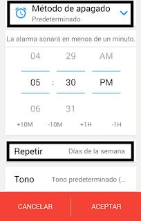 problema matematico para apagar alarma android