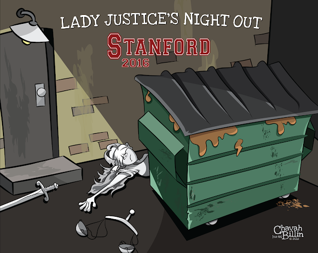 Stanford University Swimmer Rape Editorial Cartoon