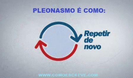 Pleonasmo Significado, exemplos