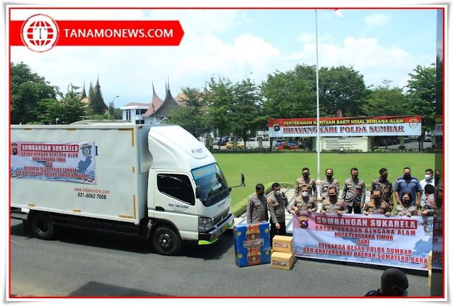 Polda Sumbar Salurkan Bantuan Kemanusiaan untuk Korban Bencana Alam di NTT