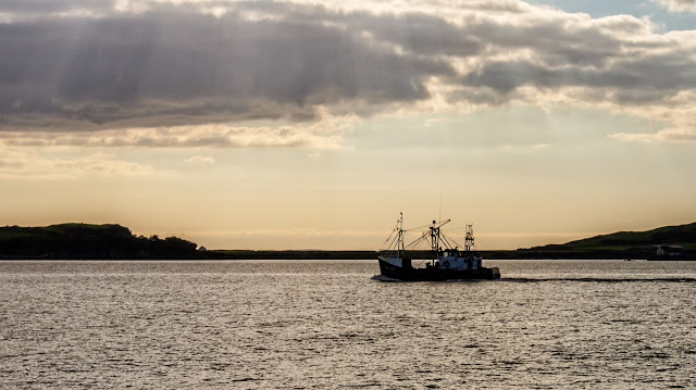 Photo of a fishing boat that passed us while we were fishing