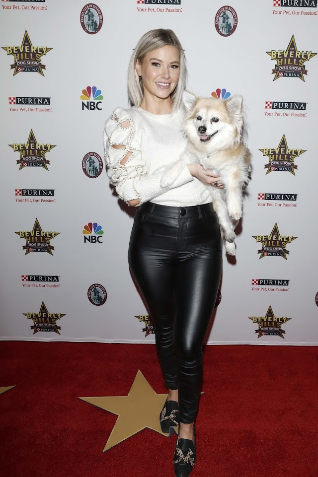 Ariana Madix in leather pants