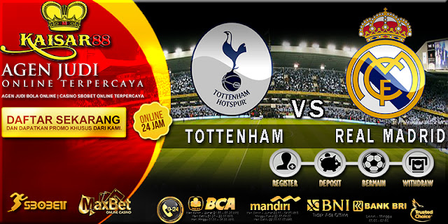 PREDIKSI TOTTENHAM HOTSPUR VS REAL MADRID 02 NOVEMBER 2017