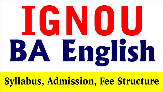 ba english honors, ba english syllabus, ba english literature syllabus from ignou