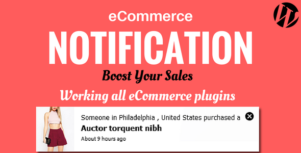 Download WordPress eCommerce Notification v1.0.5 Nulled