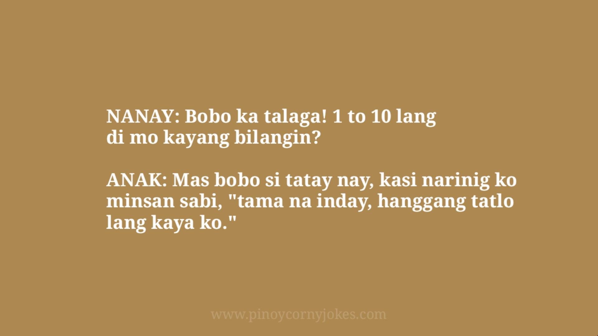 bobo pinoy jokes nanay tatay