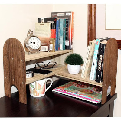 Buy the Adjustable Wooden Desktop Organizer from NileCorp to organize your office space