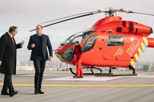 Wizyta księcia Williama w London's Air Ambulance Charity