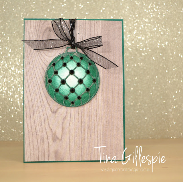 scissorspapercard, Stampin' Up!, Art With Heart, Heart Of Christmas, Merry Christmas To All, Detailed Baubles Thinlits, Wood Textures DSP