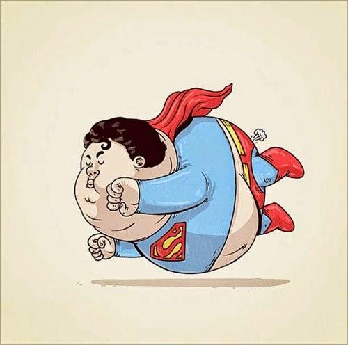 Fat Super Hero Gemuk - DC Fat Superman